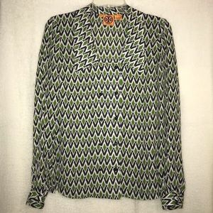 Tory Burch double breasted 100% silk blouse